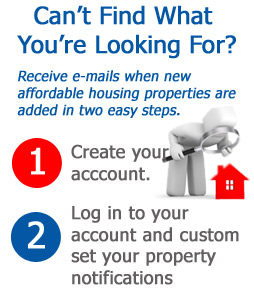 create an account to configure e-mail alerts for new property listings